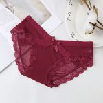Maroon brief with bow
